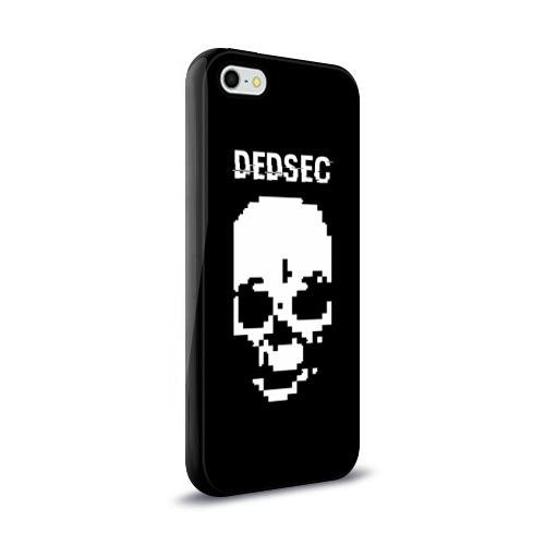 Чехол для Apple iPhone 5/5S силиконовый глянцевый  Фото 02, Череп Dedsec