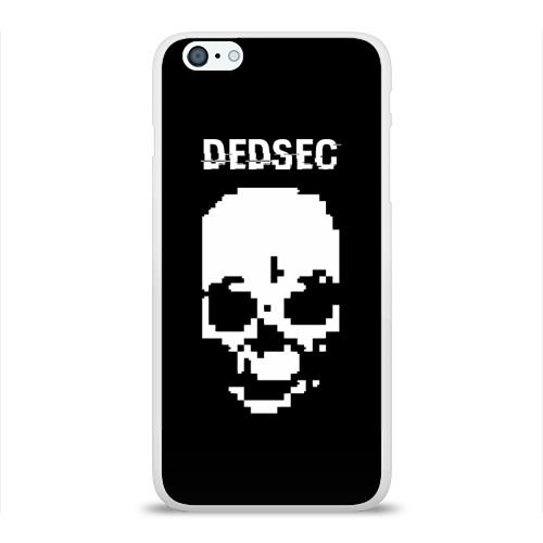 Чехол для Apple iPhone 6Plus/6SPlus силиконовый глянцевый  Фото 01, Череп Dedsec