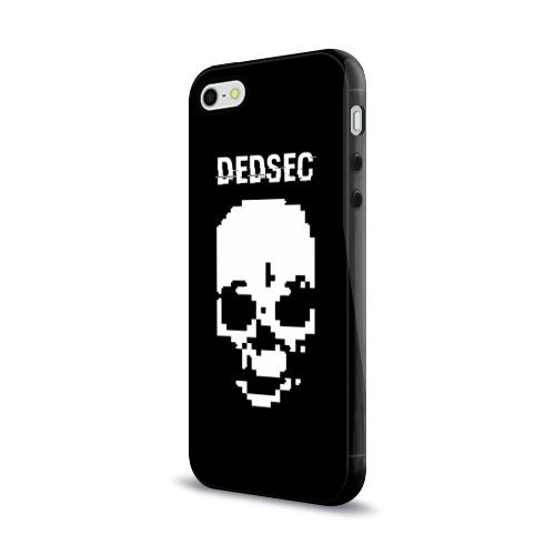 Чехол для Apple iPhone 5/5S силиконовый глянцевый  Фото 03, Череп Dedsec
