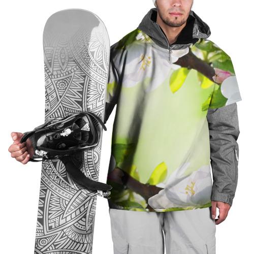 Накидка на куртку 3D  Фото 01, Цветы на зеленом