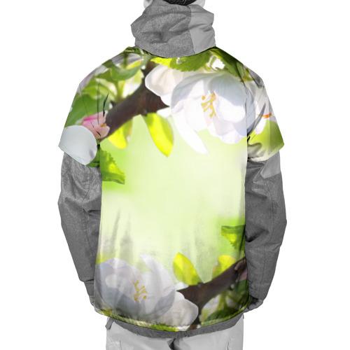 Накидка на куртку 3D  Фото 02, Цветы на зеленом