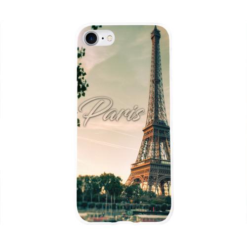 Чехол для Apple iPhone 8 силиконовый глянцевый  Фото 01, Paris