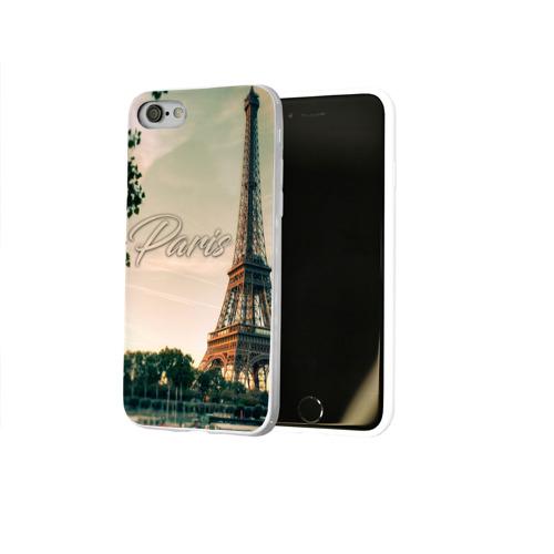 Чехол для Apple iPhone 8 силиконовый глянцевый  Фото 02, Paris