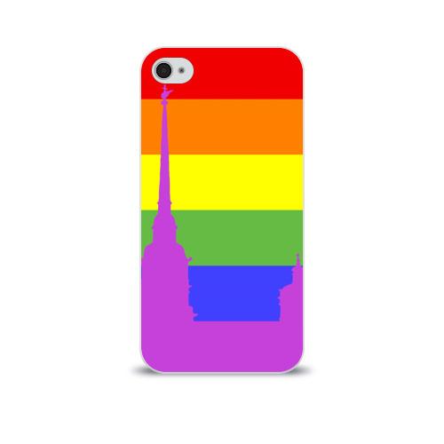 Чехол для Apple iPhone 4/4S soft-touch  Фото 01, Радужный флаг