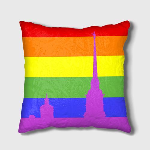 Подушка 3D  Фото 02, Радужный флаг