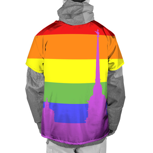 Накидка на куртку 3D  Фото 02, Радужный флаг