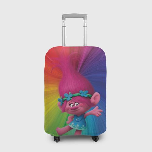 Чехол для чемодана 3D Розочка тролли Фото 01