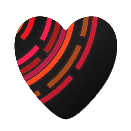Магнит виниловый сердце  Фото 01, Радиус