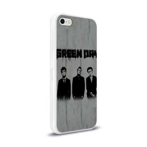 Чехол для Apple iPhone 5/5S силиконовый глянцевый  Фото 02, Green Day 7