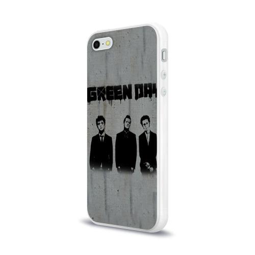 Чехол для Apple iPhone 5/5S силиконовый глянцевый  Фото 03, Green Day 7