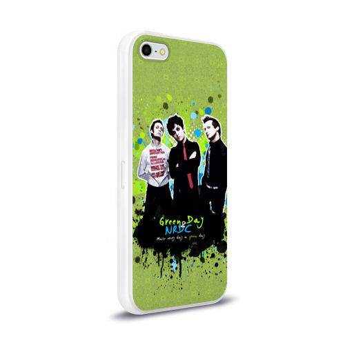 Чехол для Apple iPhone 5/5S силиконовый глянцевый  Фото 02, Green Day 6