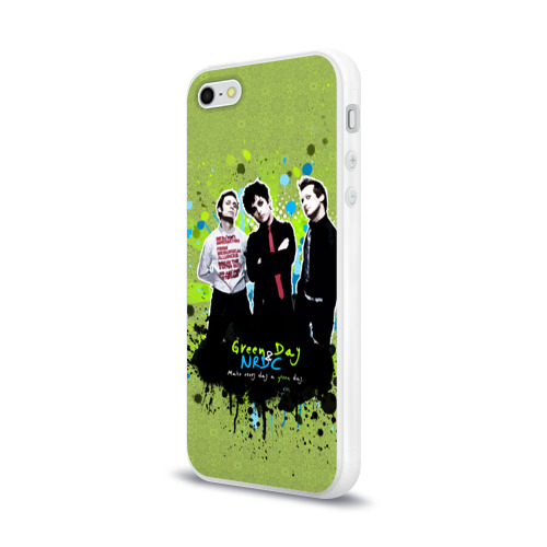 Чехол для Apple iPhone 5/5S силиконовый глянцевый  Фото 03, Green Day 6