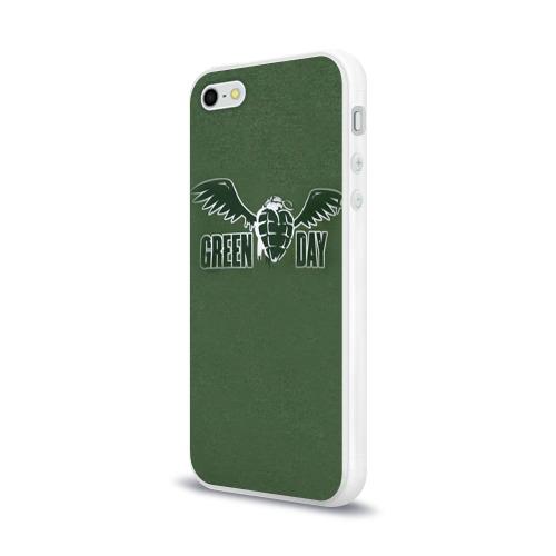 Чехол для Apple iPhone 5/5S силиконовый глянцевый  Фото 03, Green Day 5