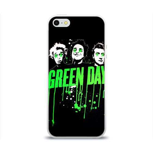 Чехол для Apple iPhone 5/5S силиконовый глянцевый  Фото 01, Green Day 4