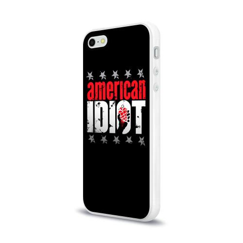 Чехол для Apple iPhone 5/5S силиконовый глянцевый  Фото 03, Green Day 2