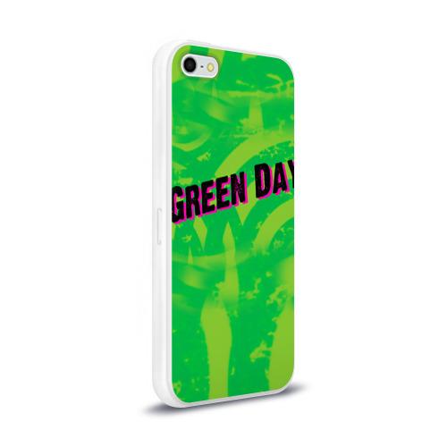 Чехол для Apple iPhone 5/5S силиконовый глянцевый  Фото 02, Green Day 1
