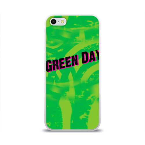 Чехол для Apple iPhone 5/5S силиконовый глянцевый  Фото 01, Green Day 1