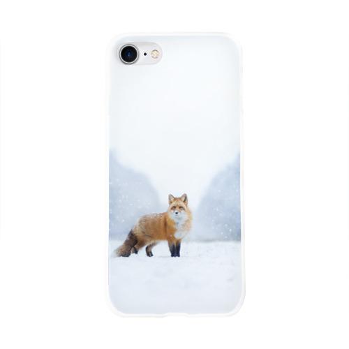 Чехол для Apple iPhone 8 силиконовый глянцевый  Фото 01, лесная красотка
