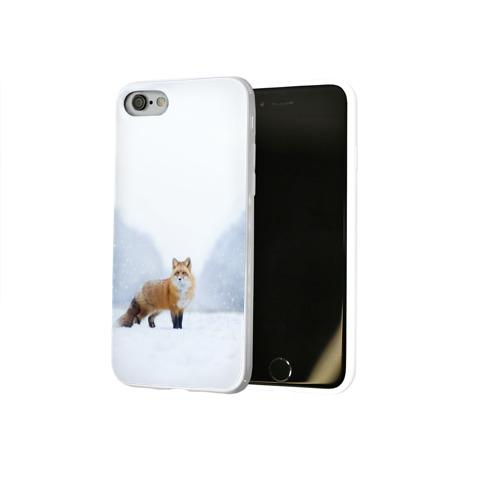 Чехол для Apple iPhone 8 силиконовый глянцевый  Фото 02, лесная красотка