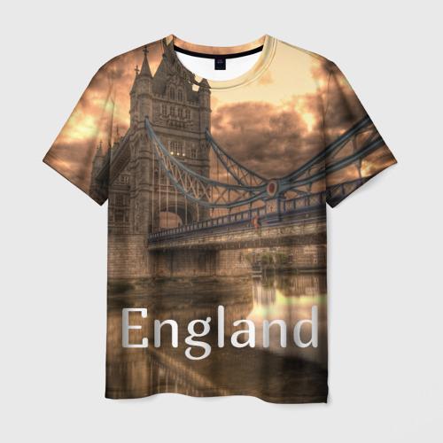 Мужская футболка 3D  Фото 01, England (Англия)