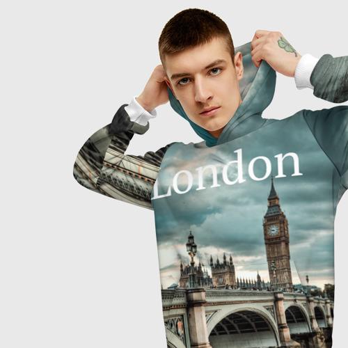 Мужская толстовка 3D  Фото 01, London