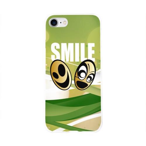 Чехол для Apple iPhone 8 силиконовый глянцевый  Фото 01, Smile