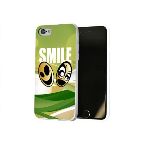 Чехол для Apple iPhone 8 силиконовый глянцевый  Фото 02, Smile