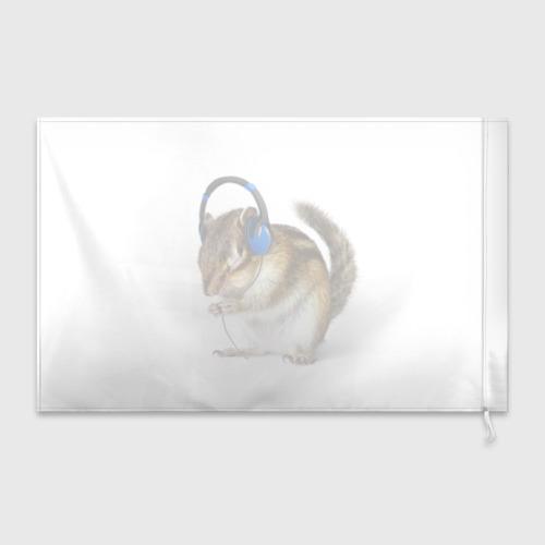 Флаг 3D  Фото 02, бурундук-меломан