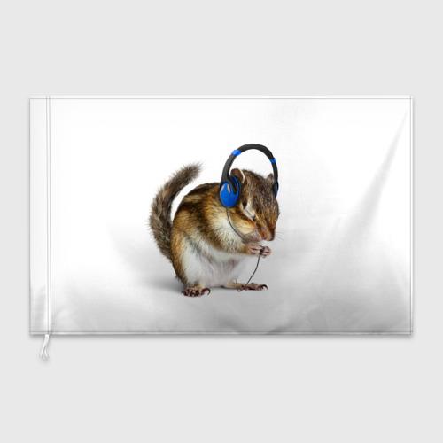 Флаг 3D  Фото 03, бурундук-меломан