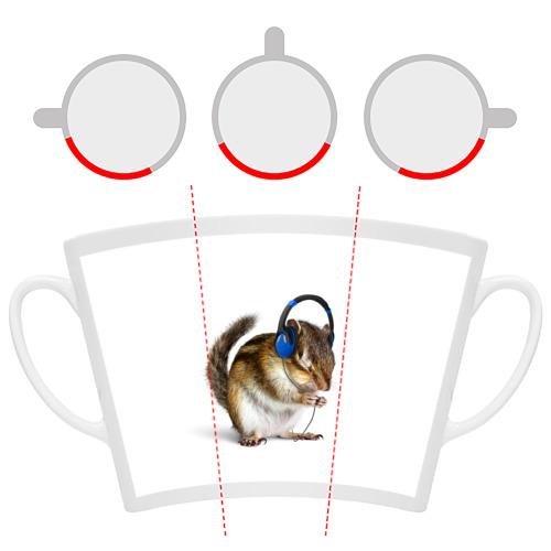 Кружка Латте  Фото 06, бурундук-меломан