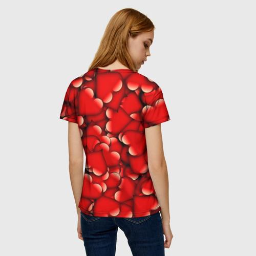 Женская футболка 3D Сердечки Фото 01