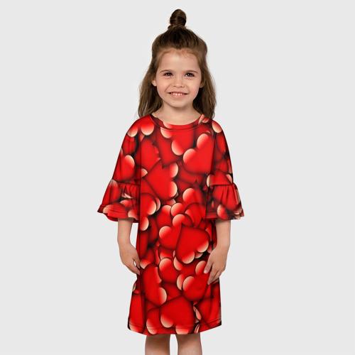 Детское платье 3D Сердечки Фото 01