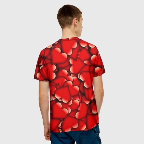 Мужская футболка 3D Сердечки
