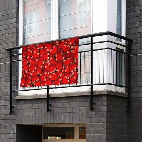 Флаг-баннер Сердечки Фото 01