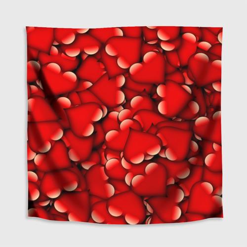 Скатерть 3D Сердечки Фото 01