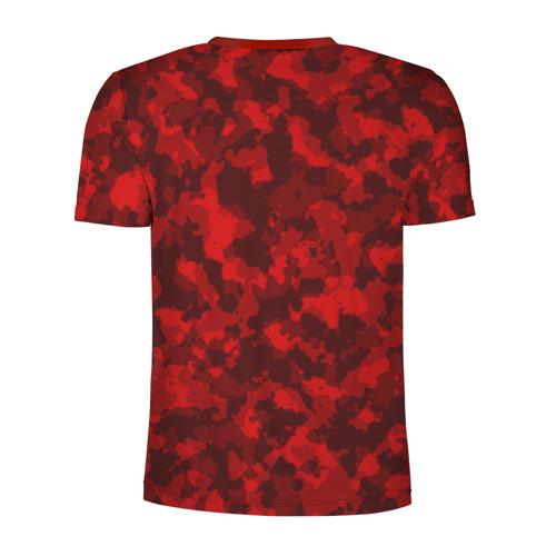Мужская футболка 3D спортивная  Фото 02, Красный камуфляж