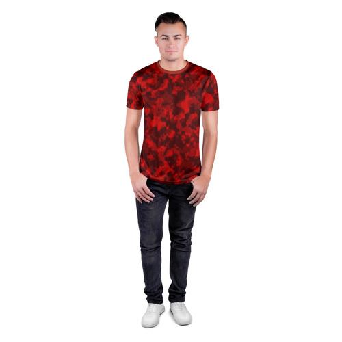 Мужская футболка 3D спортивная  Фото 04, Красный камуфляж