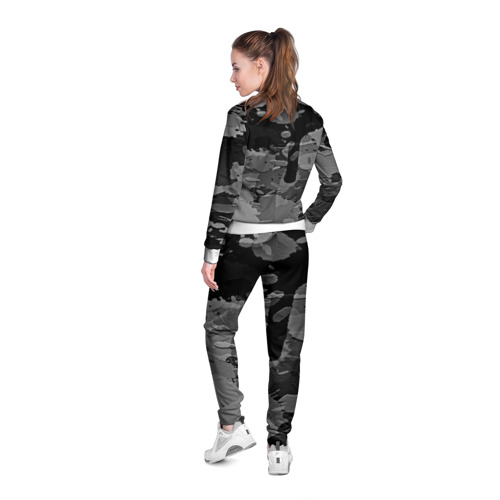 Женская олимпийка 3D  Фото 04, Black&Gray
