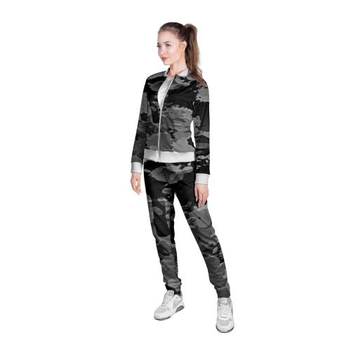Женская олимпийка 3D  Фото 05, Black&Gray