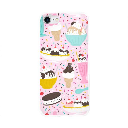 Чехол для Apple iPhone 8 силиконовый глянцевый  Фото 01, Ice Cream