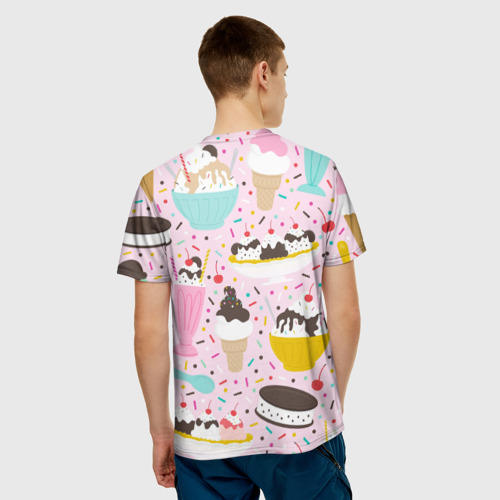 Мужская футболка 3D  Фото 02, Ice Cream