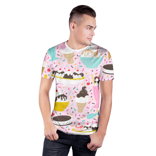 Мужская футболка 3D спортивная  Фото 03, Ice Cream