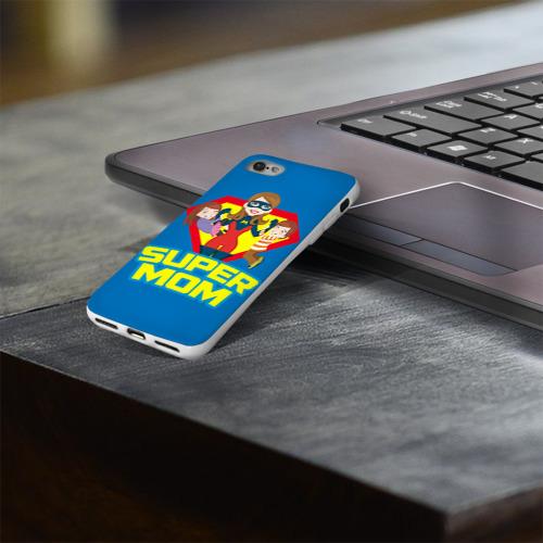 Чехол для Apple iPhone 8 силиконовый глянцевый  Фото 03, Супермама