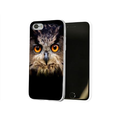 Чехол для Apple iPhone 8 силиконовый глянцевый  Фото 02, Хищный взор