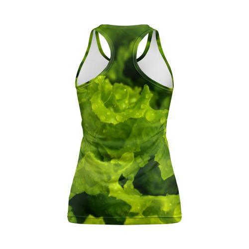 Женская майка 3D спортивная зелень Фото 01