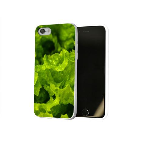 Чехол для Apple iPhone 8 силиконовый глянцевый  Фото 02, зелень