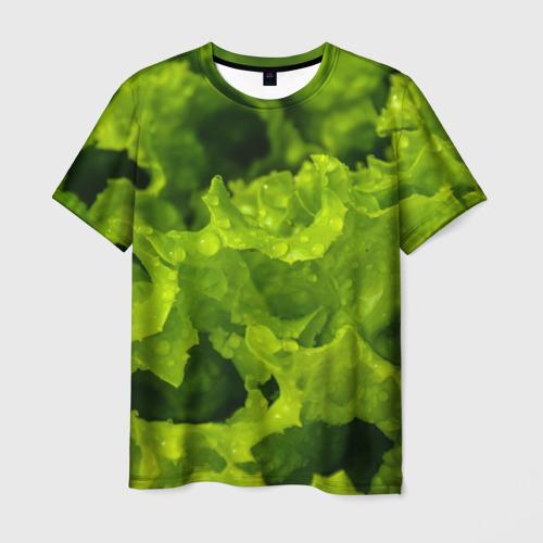Мужская футболка 3D зелень