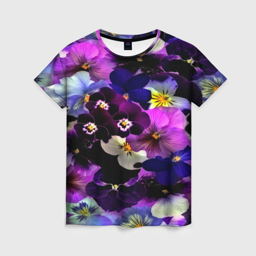 Женская футболка 3D Flower Garden Фото 01