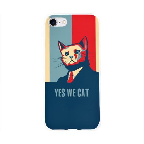 Чехол для Apple iPhone 8 силиконовый глянцевый  Фото 01, Yes we CAT