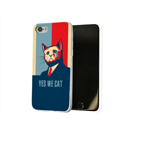Чехол для Apple iPhone 8 силиконовый глянцевый  Фото 02, Yes we CAT